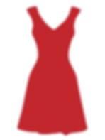 Czerwona sukienka walentynkowa