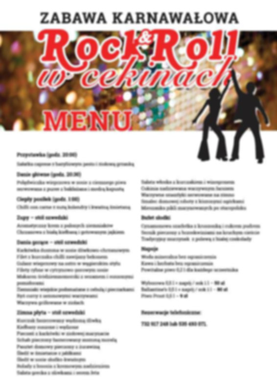 Poznaj menu na zabawę w stylu rock'n'roll!