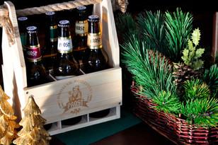 Jasna i elegancka skrzynka, a w niej sześć piw kraftowych - idealny prezent dla fanów piwa