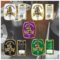 Etykiety piw archiwalnych z Browaru PROS