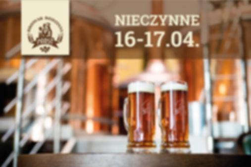 Informacja dla klientów: dnia 16 oraz 17 kwietnia restauracja będzie zamknięta.