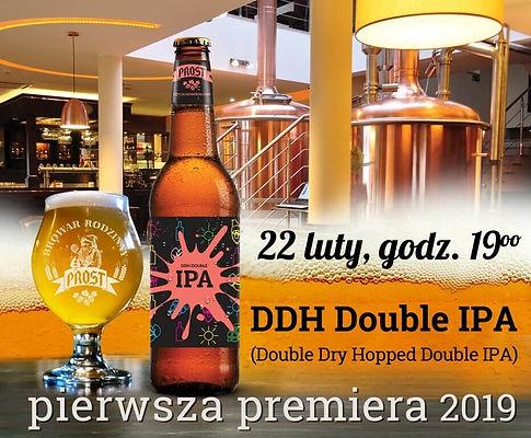 22 lutego premiera nowego piwa DDH Double IPA