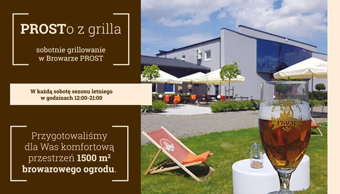 Szukasz miejsca, w którym zjesz smaczne dania z grilla? Dobrze trafiłeś/aś - od 15 maja Browar PROST startuje z grillowaniem w soboty!
