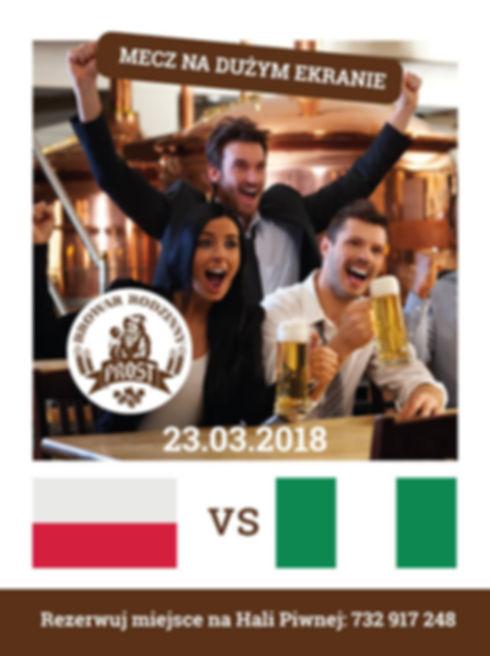 W trakcie rywalizacji Polska vs Nigeria będzie prowadzona transmisja na żywo w Browarze we Wrocławiu