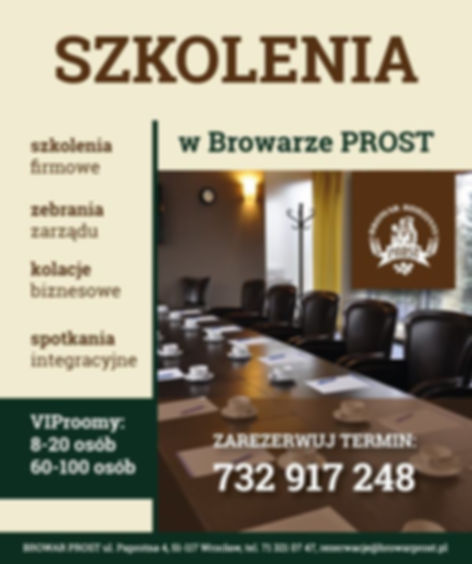 W restauracji jest możliwość zorganizowania szkoleń dla firm, zebrań zarządu, kolacji biznesowych czy też spotkań integracyjnych.