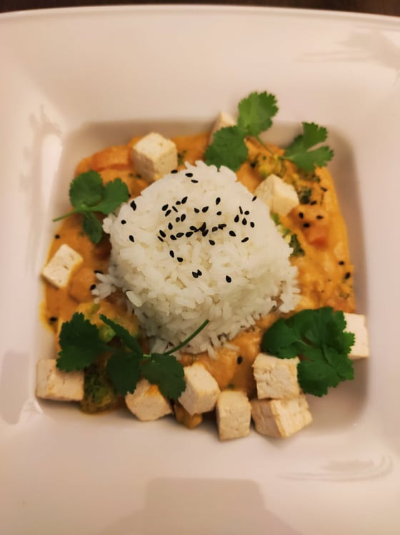 Dyniowe curry z tofu