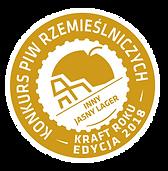 Logo konkursu piw rzemieślniczych – kraft roku 2018 – inny jasny lager