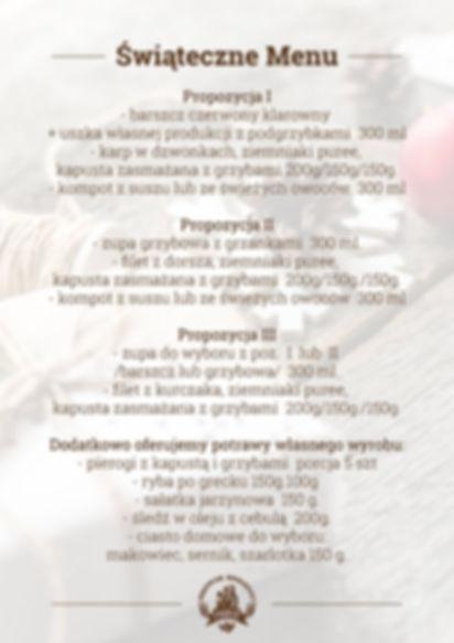 Restauracja zawiera w ofercie trzy propozycje świątecznych dań.