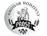 Białe logo browaru PROST