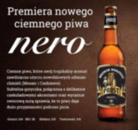 Do piwa NERO wykorzystano chmiele Mosaic i Cashmere