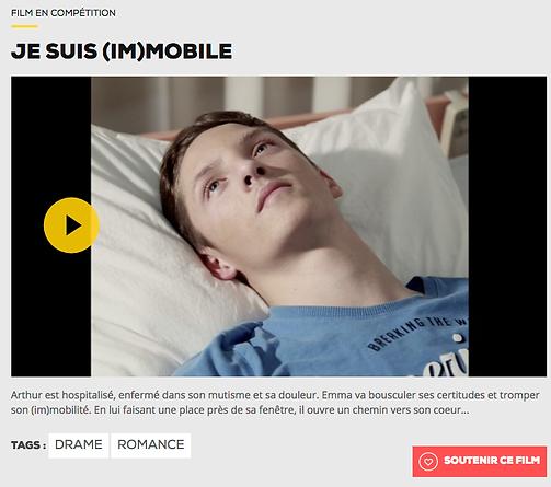 """""""Je suis (im)mobile"""" réalisé par Cécile Bredeaux pour le Nikon Film Festival. Avec Pierre Bredeaux et Lisa Rousseau"""