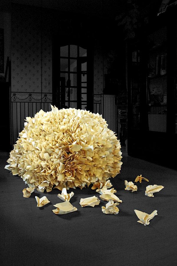 Remue-Méninges - Oeuvre plastique réalisée par Cécile Bredeaux.
