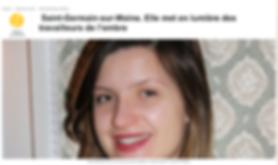 Cécile Bredeaux article Ouest France Saint-Germain-sur-Moine