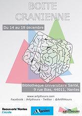 """Participation de l'artiste française Cécile Bredeaux à l'exposition """"Boîte Crânienne"""" à Nantes.."""