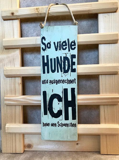 """Vintage Holzschilder """"So viele Hunde..."""""""