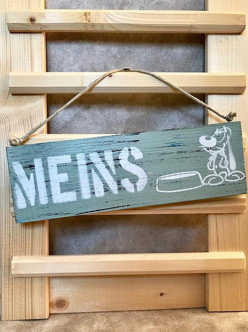 """Vintage Holzschilder """"Meins"""""""