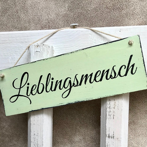 """Schild klein """"Lieblingsmensch"""""""