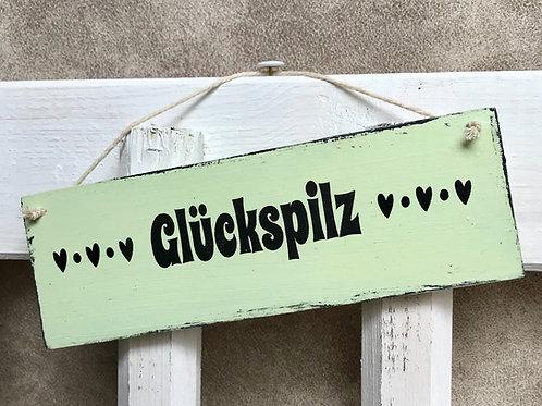 """Schild klein """"Glückspilz"""""""