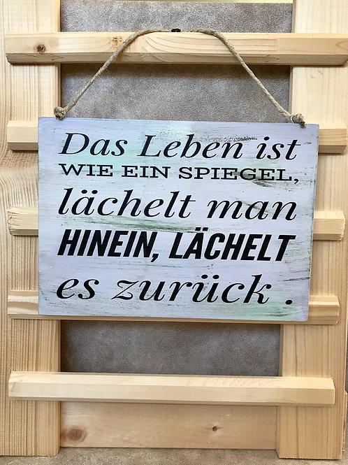 """Vintage Holzschilder """"Das Leben ist wie..."""""""