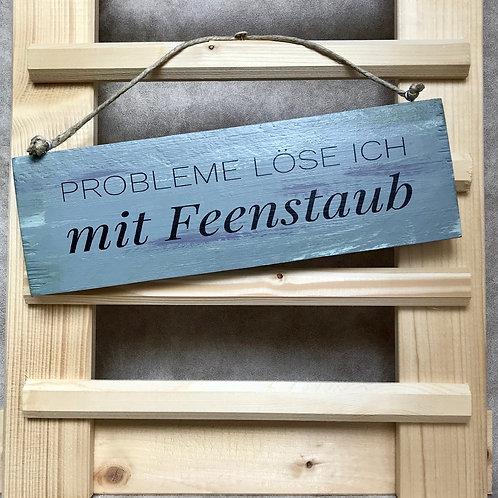 """Vintage Holzschilder """"Probleme löse ich..."""""""