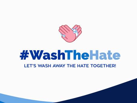 We've Partnered With #WashTheHate