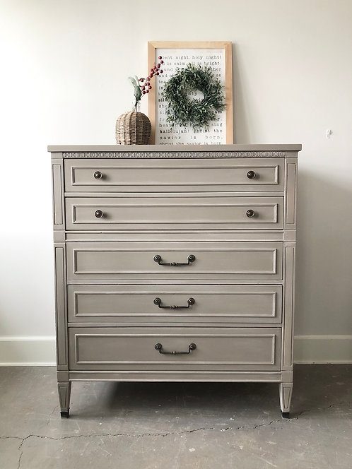 Transitional Tall Dresser