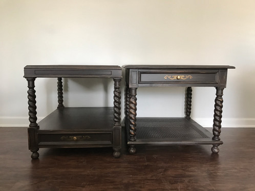 Good Barley Twist Side Tables (pair)