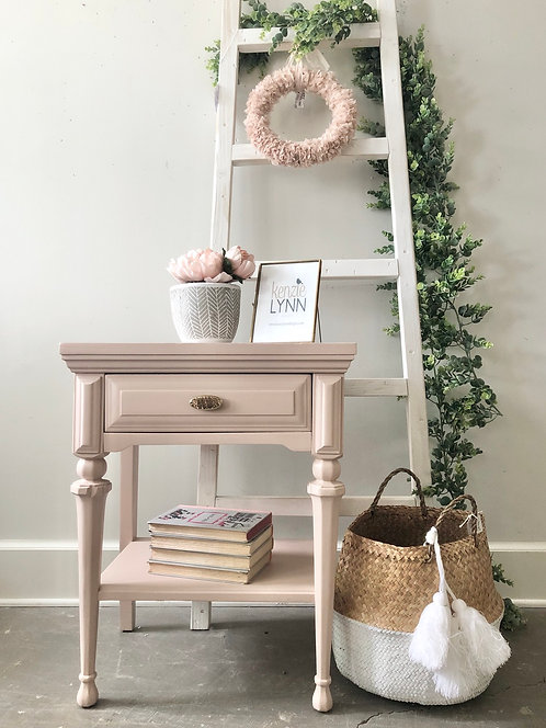Blushing Nightstand / Table