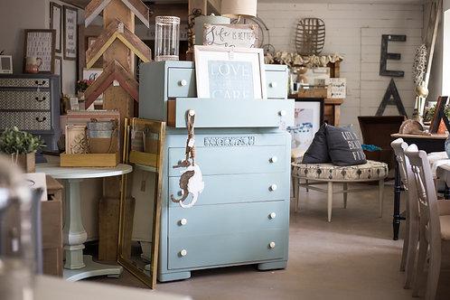 Persian Blue Vintage Dresser