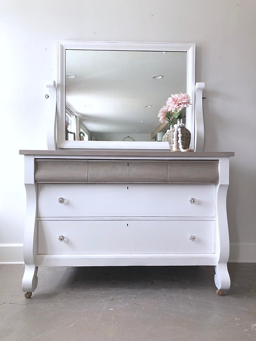 Antique Empire Dresser & Mirror