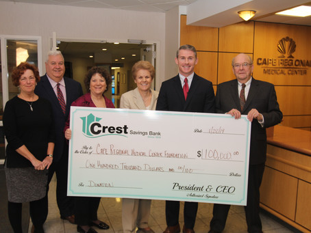 Crest Launched #100DaysOfGivings Campaign with donation to Cape Regional Hospital
