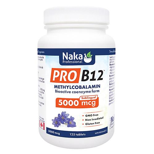Naka Pro B12 METHYLCOBALAMIN 5000MCG - 125 TABS