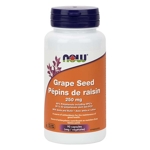 Now Grape Seed Extract 250mg Vegetable Caps