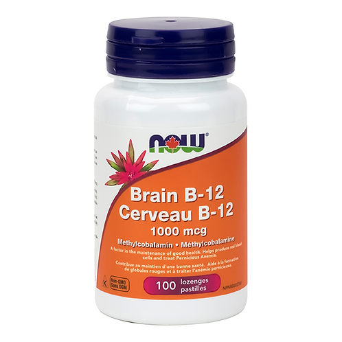 Now Brain B-12 with 1,000 mcg Methylcobalamin Lozenges