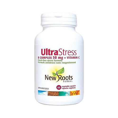 New Roots Ultra-Stress + Vitamin C 60 Caps