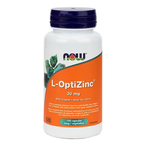Now L-OptiZinc® Monomethionine 30 mg Veg Capsules