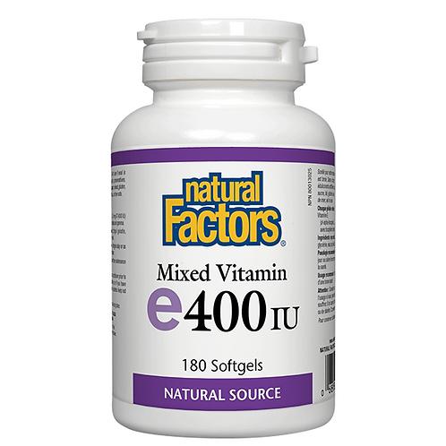 Natural Factors vitamin E 180 softgels