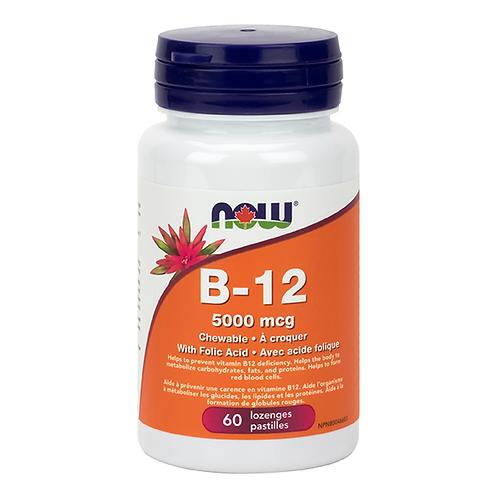 Now B-12 5,000 mcg Methylcobalamin Lozenges