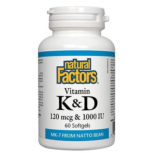 Natural Factors Vitamin K & D 60sg