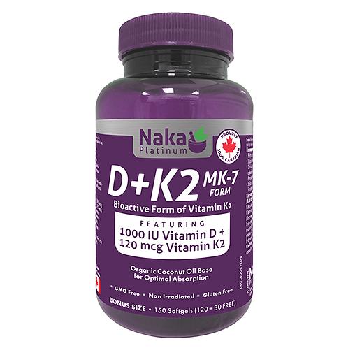 Naka Platinum K2&D 150 vcaps