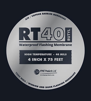 RT40 BUTYL Flashing Tape WRB Vapour Air Weather Barrier High Temp Window Sealing UV Patch