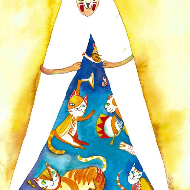 Postcard illustration for 福袋企劃  Client: 嶺南貓關注組 x 虎地書室 x 嶺南大學學生會 x 嶺大校友關注組