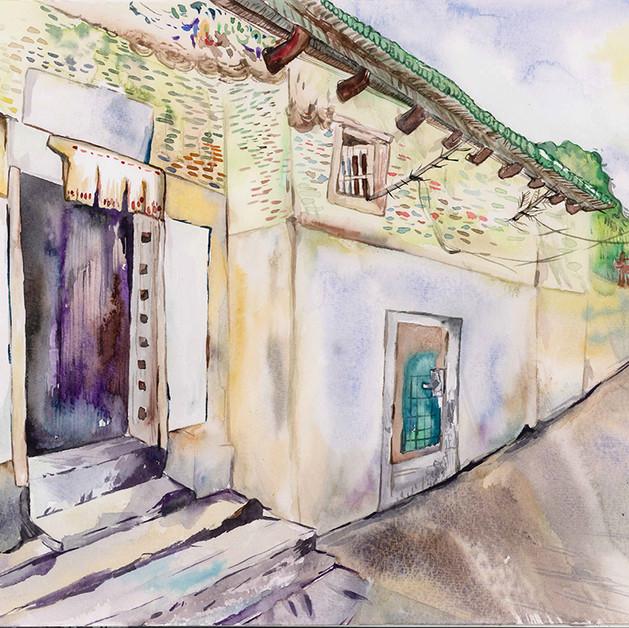 Postcard illustration for 2016 沙田區文學散步  Client: 香港中文大學香港文學研究中心