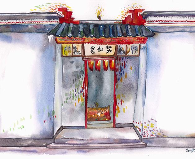 Postcard illustration for 2016中西區文學散步  Client: 香港中文大學香港文學研究中心