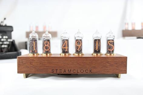 SteamClock N°614 Acajou et Laiton