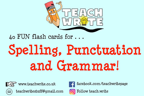 SPAG Flash Cards (Age 8-12)