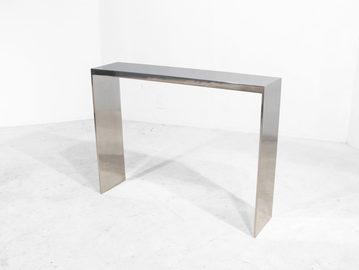 #364. CONSOLE, mirrored cast aluminum