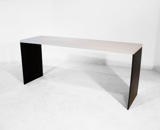 #09. TABLE, concrete, blackened steel