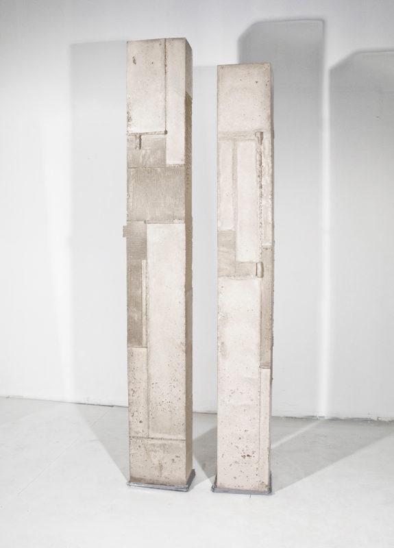 SIDE BY SIDE. concrete, lead 2017