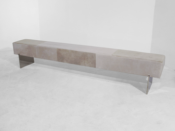 #263. BENCH, skin, mirrored stainless st
